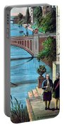 The Reception Of Benjamin Franklin In France Portable Battery Charger