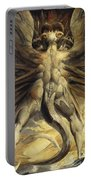 The Red Dragon And The Woman Clothed In Sun Portable Battery Charger