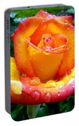 The Red Gold Rose Portable Battery Charger