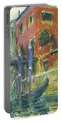 The Red House Portable Battery Charger by Claude Monet