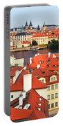 The Red Tile Roofs Of Prague Portable Battery Charger