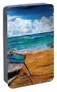 The Resting Boat And The Beach Holidays Portable Battery Charger