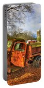 The Resting Place 2 Farm Life 1947 Dodge Dump Truck Art Portable Battery Charger