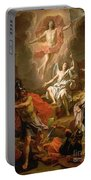 The Resurrection Of Christ Portable Battery Charger by Noel Coypel