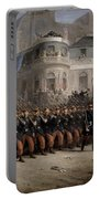 The Return Of The Troops To Paris From The Crimea Portable Battery Charger by Emmanuel Masse