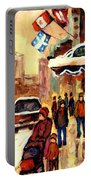 The Ritz Carlton Montreal Streetscene Portable Battery Charger