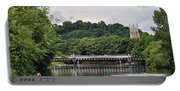 The River And Bridges At Burton On Trent Portable Battery Charger