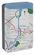 The Rochester Pubway Map Portable Battery Charger