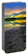 The Rockies Reflected At Lake Annettee Portable Battery Charger