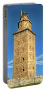 The Roman Lighthouse Known As Tower Of Hercules Portable Battery Charger