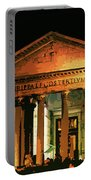 The Roman Pantheon At Night Portable Battery Charger