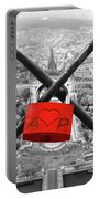 The Romantically Love Inscribed Padlocks On The Eiffel Tower, Pa Portable Battery Charger