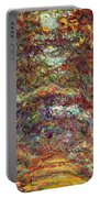 The Rose Path Giverny Portable Battery Charger by Claude Monet