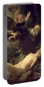 The Sacrifice Of Abraham Portable Battery Charger by Rembrandt