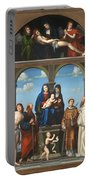 The Saint Anne Altarpiece From San Frediano Lucca Portable Battery Charger