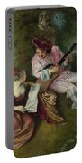The Scale Of Love Portable Battery Charger by Jean-Antoine Watteau