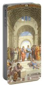 The School Of Athens, Raphael Portable Battery Charger