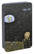 The Scream And Planets  Portable Battery Charger