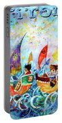 The Sea Cruise Of Tivoli Gardens Portable Battery Charger