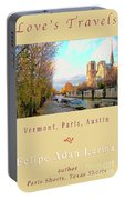 The Seine And Quay Beside Notre Dame, Autumn Cover Art Portable Battery Charger
