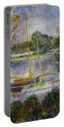 The Seine At Argenteuil Portable Battery Charger by Pierre Auguste Renoir