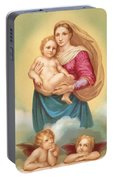 The Sistine Madonna Portable Battery Charger