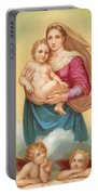 The Sistine Madonna Portable Battery Charger by Raphael