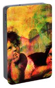 The Sistine Modonna Baby Angels In Abstract Space 20150622 Portable Battery Charger