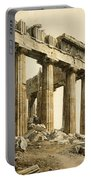 The South-east Corner Of The Parthenon. Athens Portable Battery Charger