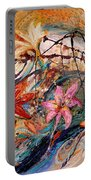 The Splash Of Life 17. Humming-bird And Exotic Flowers Portable Battery Charger