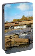 The Square Dance Venue Watson Mill Covered Bridge Portable Battery Charger