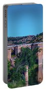 The St. Martin Bridge Over The Tagus River In Toledo Portable Battery Charger