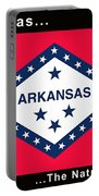The State Flag Of Arkansas Portable Battery Charger