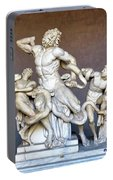 The Statue Of Laocoon And His Sons At The Vatican Museum Portable Battery Charger