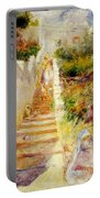 The Steps In Algiers Portable Battery Charger by Pierre Auguste Renoir