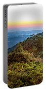 The Sun Of The Evening Of The Mountain And Sea Portable Battery Charger