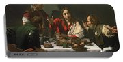 The Supper At Emmaus Portable Battery Charger