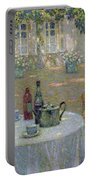 The Table In The Sun In The Garden Portable Battery Charger by Henri Le Sidaner