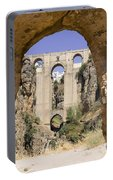 The Tajo De Ronda And Puente Nuevo Bridge Andalucia Spain Europe Portable Battery Charger