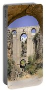 The Tajo De Ronda And Puente Nuevo Bridge Andalucia Spain Europe Portable Battery Charger