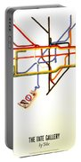 The Tate Gallery - National Galleries And Museums - London Underground - Retro Travel Poster Portable Battery Charger