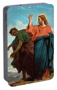 The Temptation Of Christ By The Devil Portable Battery Charger