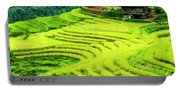 The Terraced Fields Scenery In Autumn Portable Battery Charger