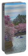 The Tidal Basin During The Washington D.c. Cherry Blossom Festival Portable Battery Charger