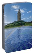 The Tower Of Hercules And The Rose Of The Winds Portable Battery Charger
