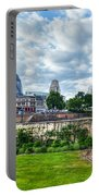 The Tower Of London And The City District With Gherkin Skyscraper, The Uk Portable Battery Charger
