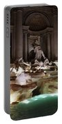 The Trevi Fountain In Rome Portable Battery Charger