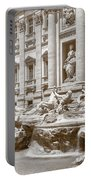 The Trevi Fountain In Sepia Tones Portable Battery Charger