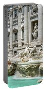 The Trevi Fountain In The City Of Rome Portable Battery Charger