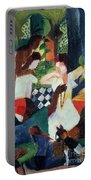 The Turkish Jeweller  Portable Battery Charger by August Macke